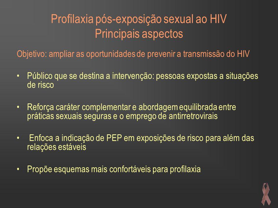 Profilaxia pós-exposição sexual ao HIV Principais aspectos