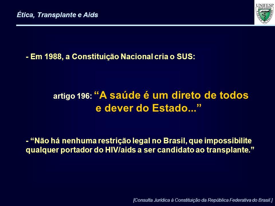e dever do Estado... - Em 1988, a Constituição Nacional cria o SUS: