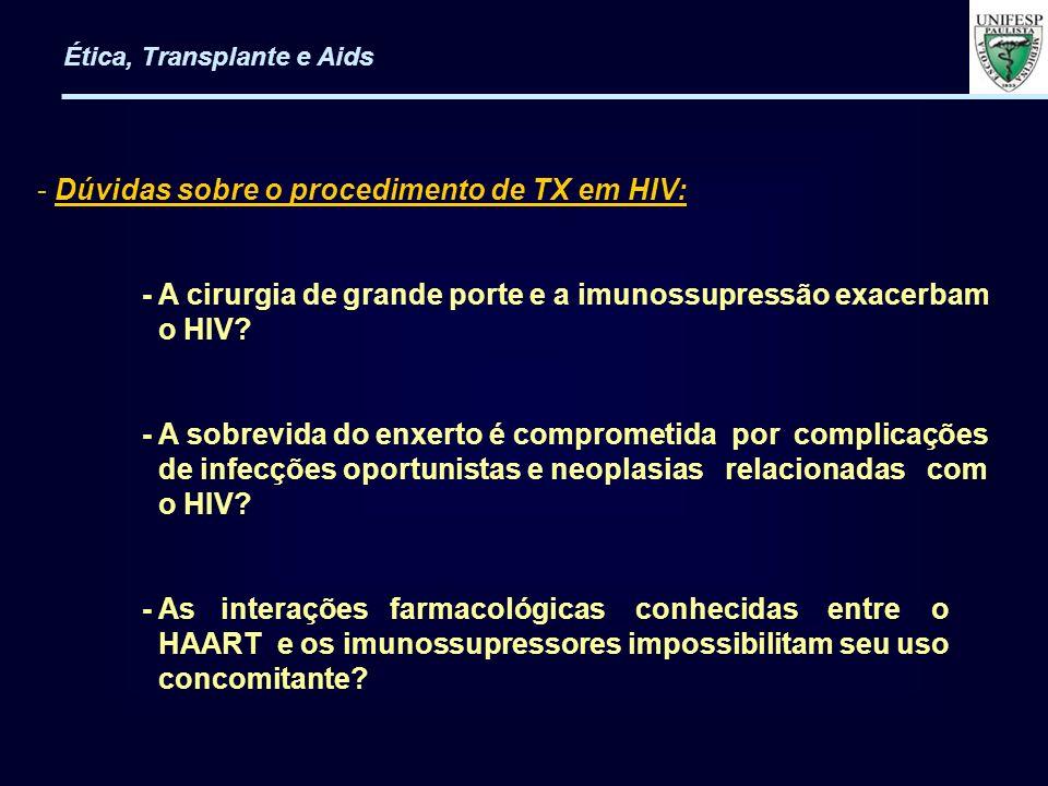 Dúvidas sobre o procedimento de TX em HIV: