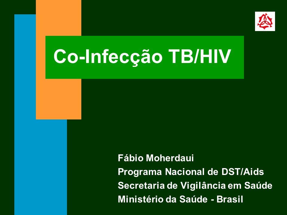 Co-Infecção TB/HIV Fábio Moherdaui Programa Nacional de DST/Aids