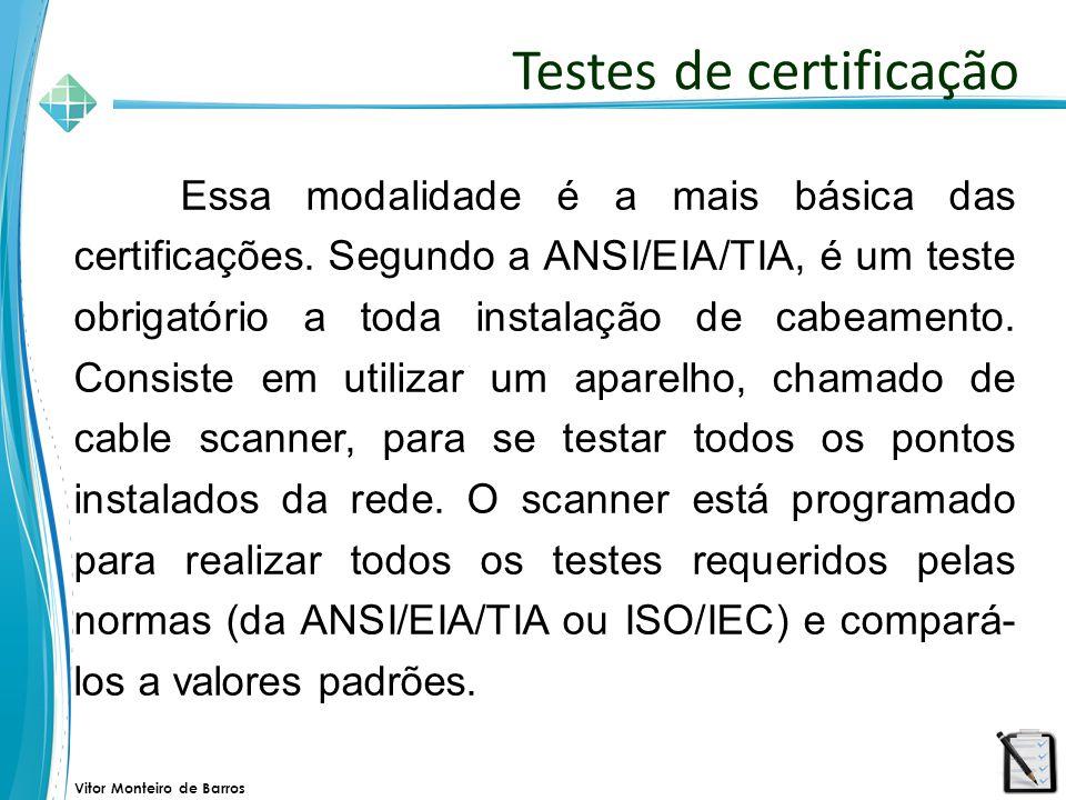 Testes de certificação