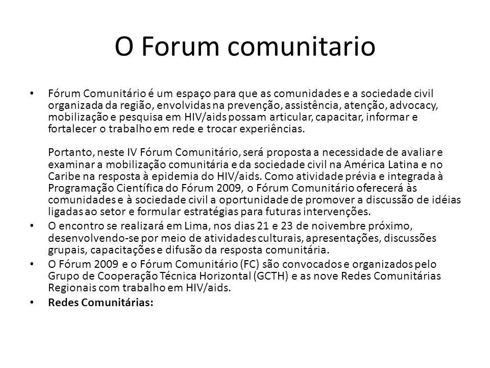O Forum comunitario