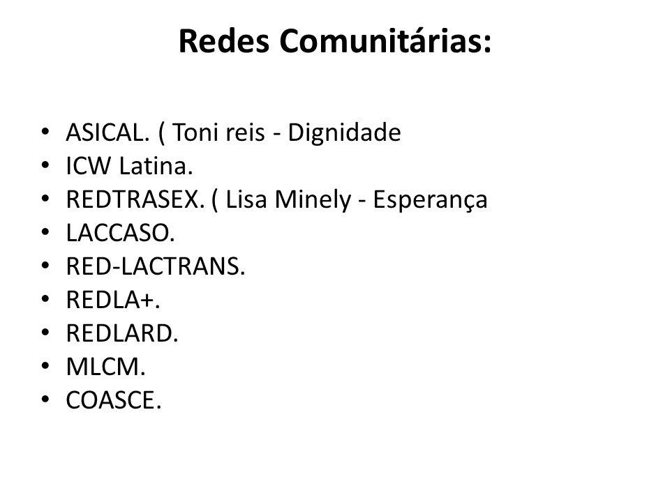 Redes Comunitárias: ASICAL. ( Toni reis - Dignidade ICW Latina.