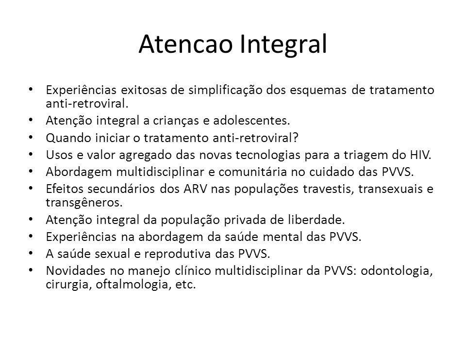 Atencao Integral Experiências exitosas de simplificação dos esquemas de tratamento anti-retroviral.