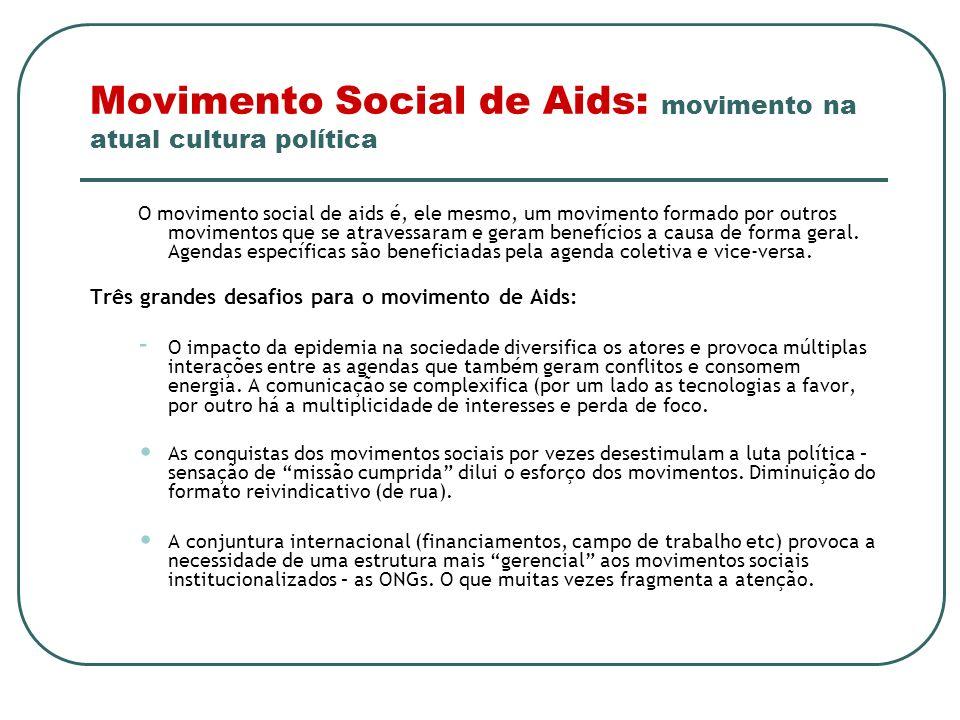 Movimento Social de Aids: movimento na atual cultura política