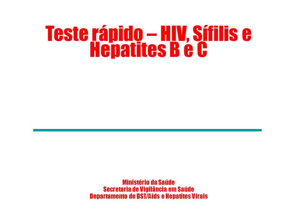 Teste rápido – HIV, Sífilis e Hepatites B e C
