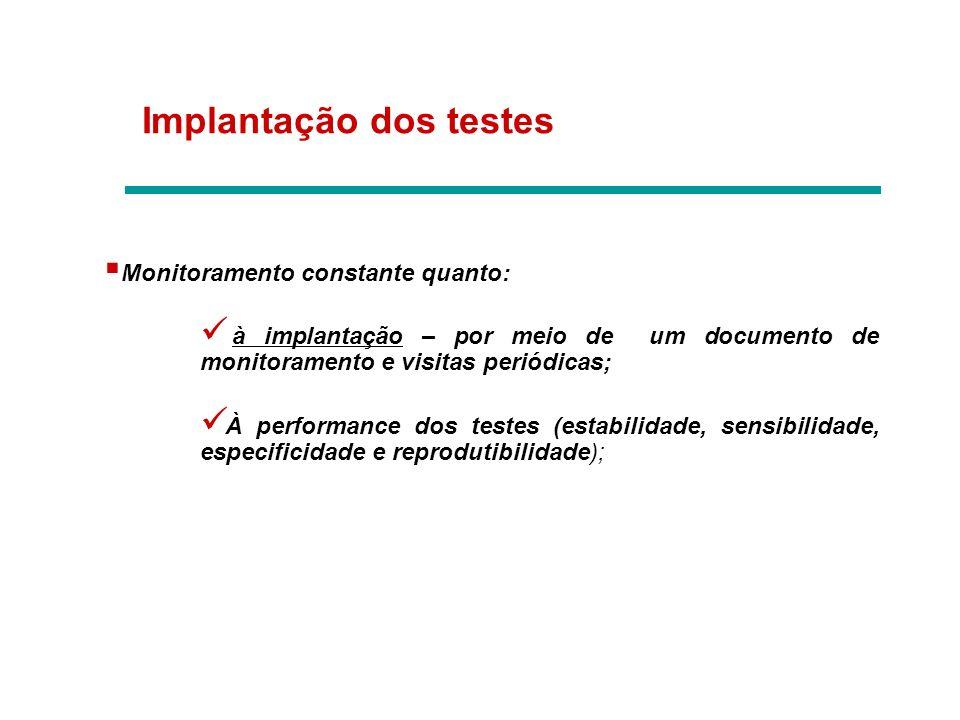 Implantação dos testes