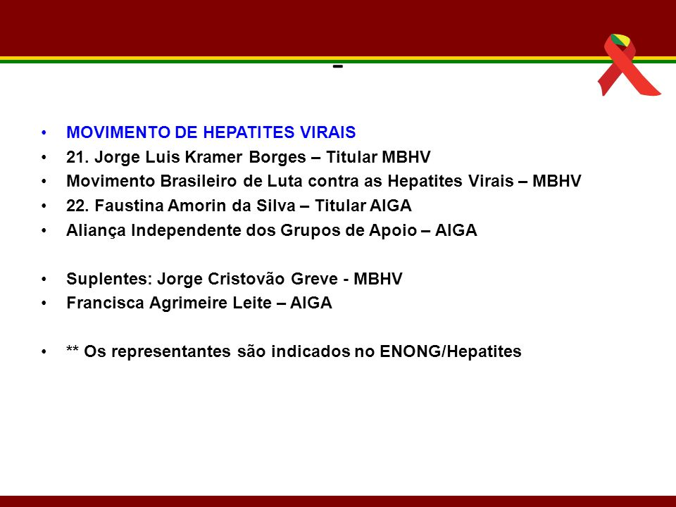 - MOVIMENTO DE HEPATITES VIRAIS