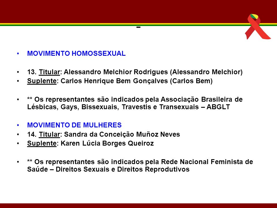 - MOVIMENTO HOMOSSEXUAL