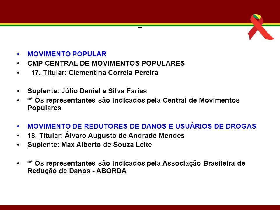 - MOVIMENTO POPULAR CMP CENTRAL DE MOVIMENTOS POPULARES
