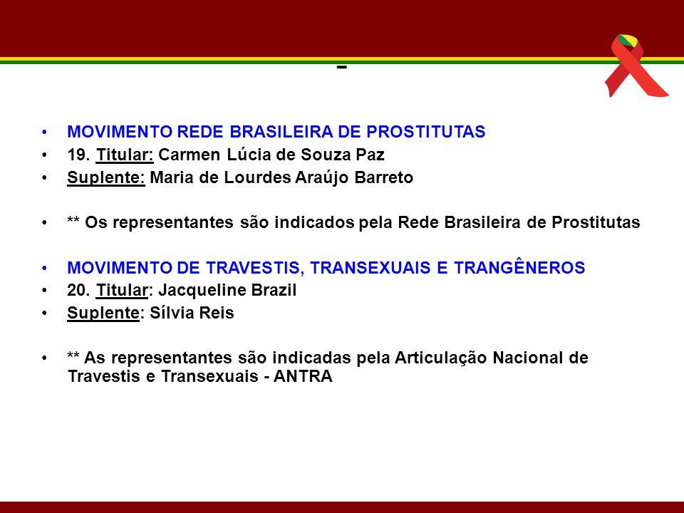 - MOVIMENTO REDE BRASILEIRA DE PROSTITUTAS