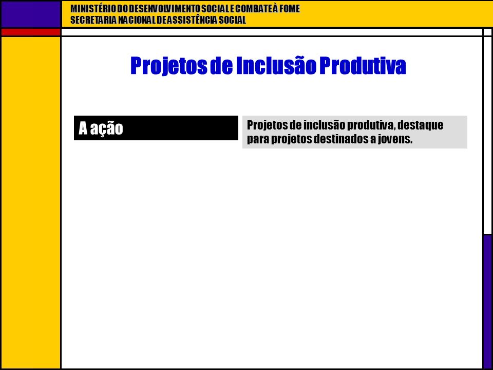 Projetos de Inclusão Produtiva