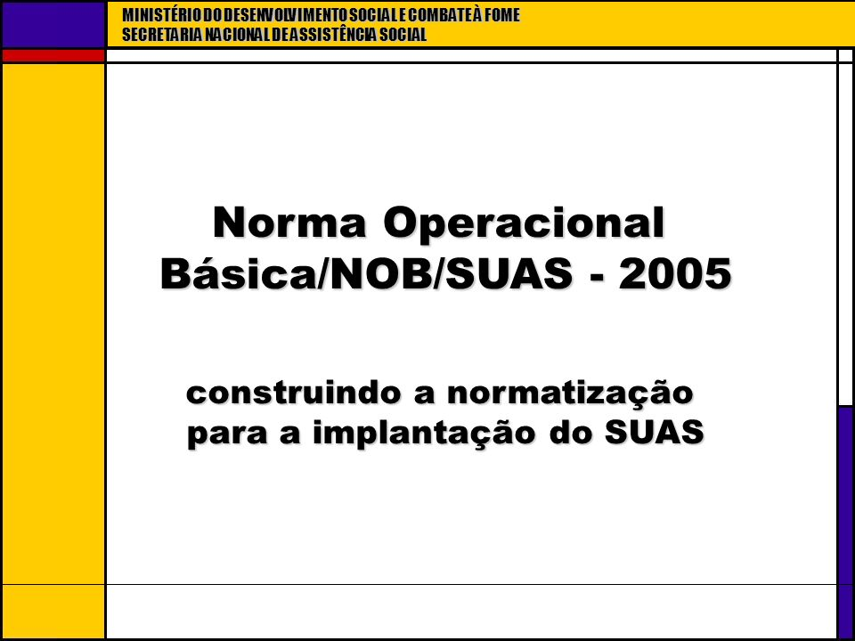 Norma Operacional Básica/NOB/SUAS - 2005