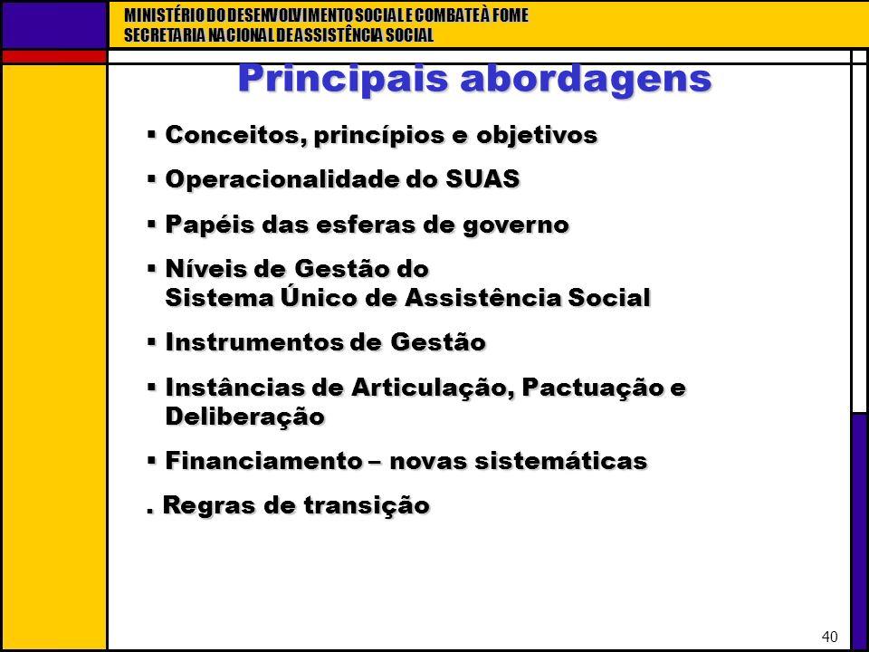 Principais abordagens