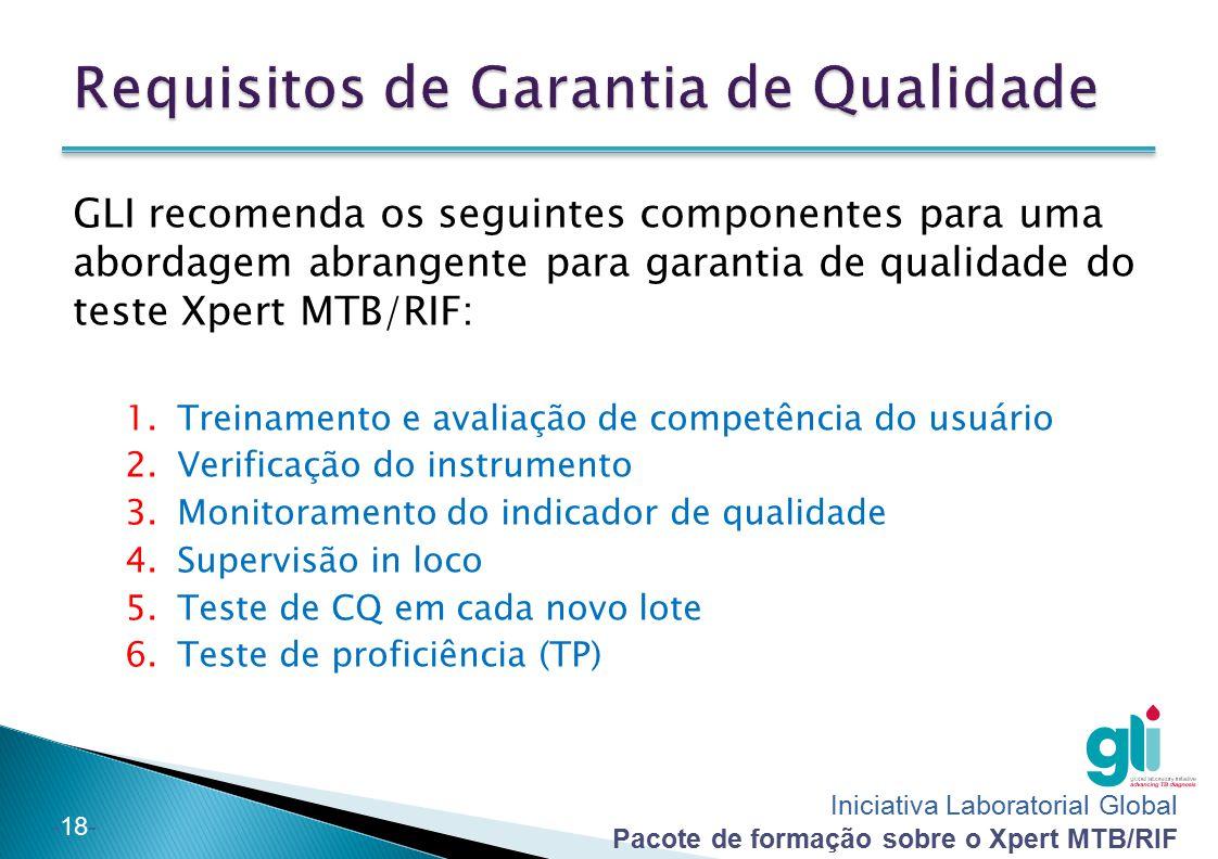 Requisitos de Garantia de Qualidade