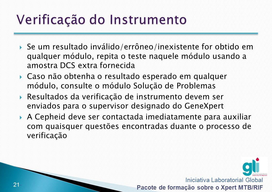 Verificação do Instrumento