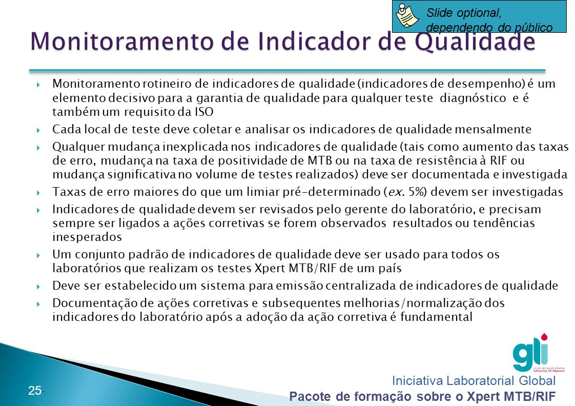 Monitoramento de Indicador de Qualidade