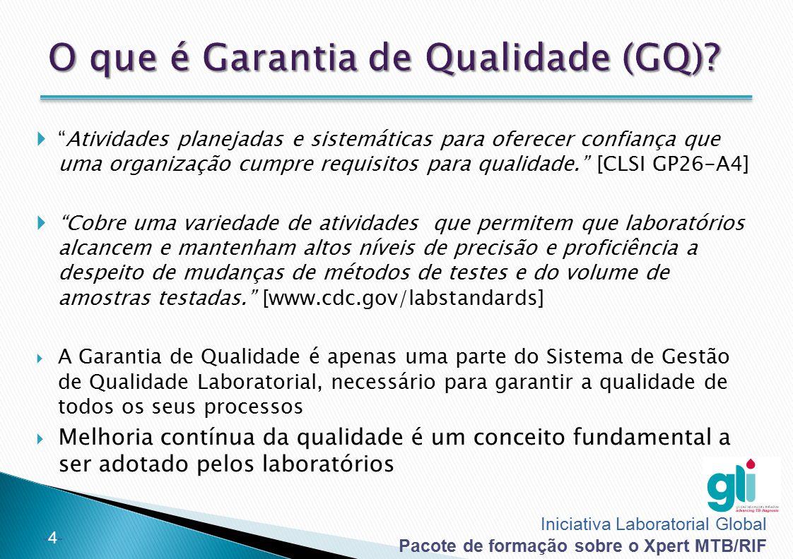 O que é Garantia de Qualidade (GQ)