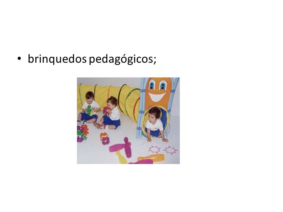 brinquedos pedagógicos;