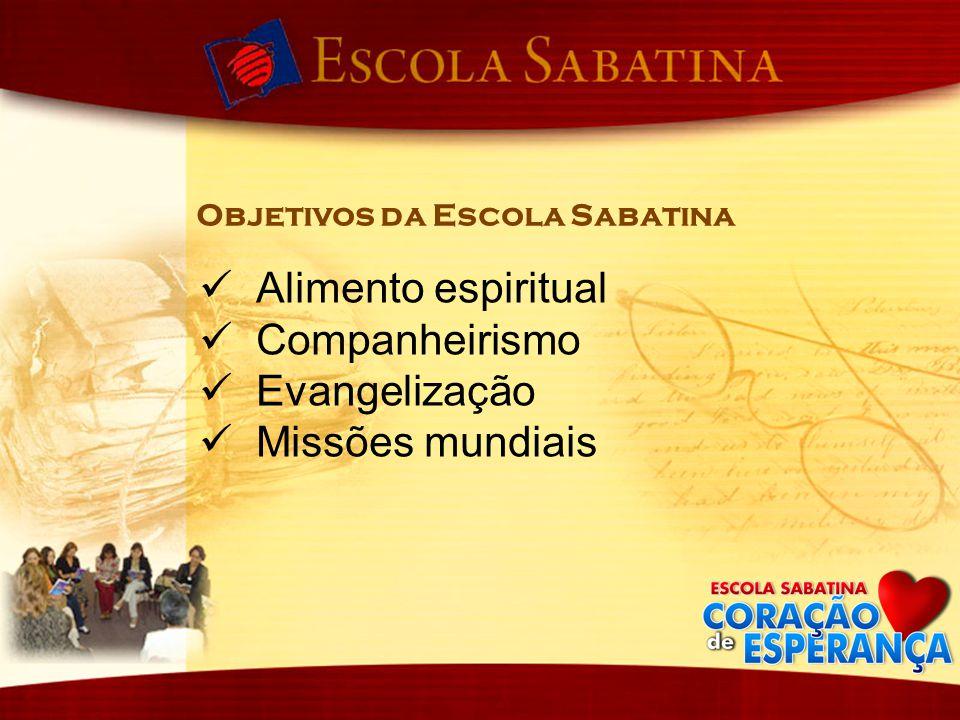 Alimento espiritual Companheirismo Evangelização Missões mundiais