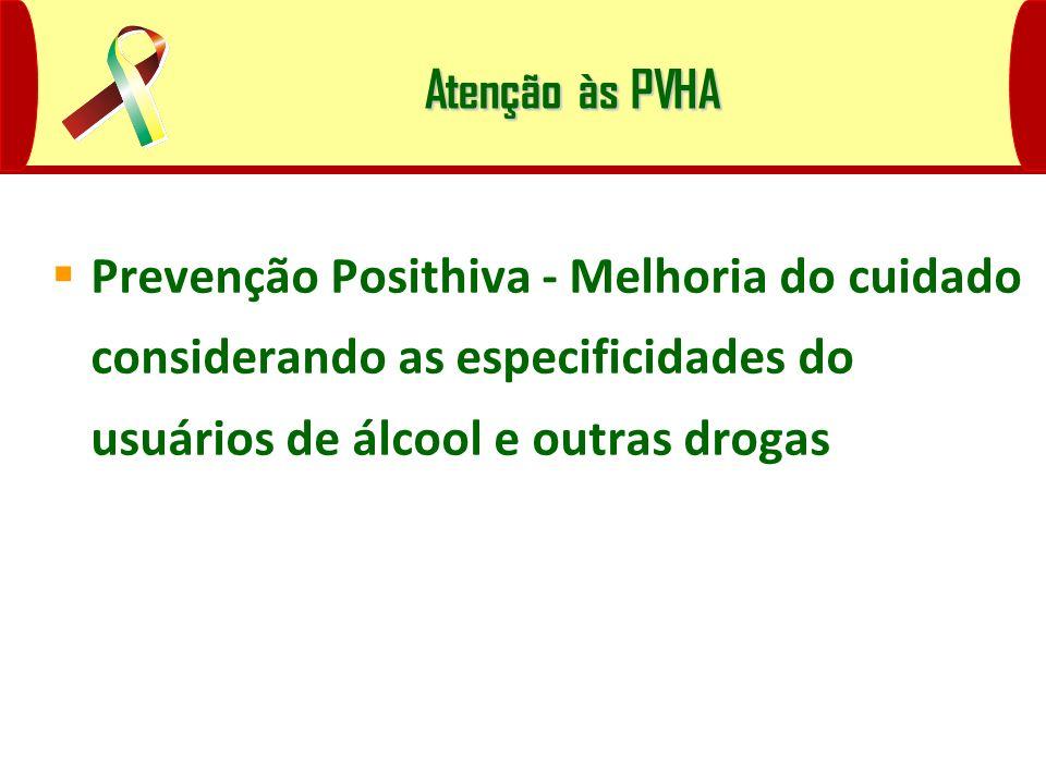 Atenção às PVHA Prevenção Posithiva - Melhoria do cuidado considerando as especificidades do usuários de álcool e outras drogas.