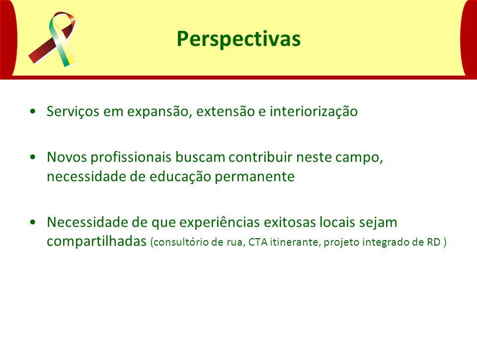 Perspectivas Serviços em expansão, extensão e interiorização