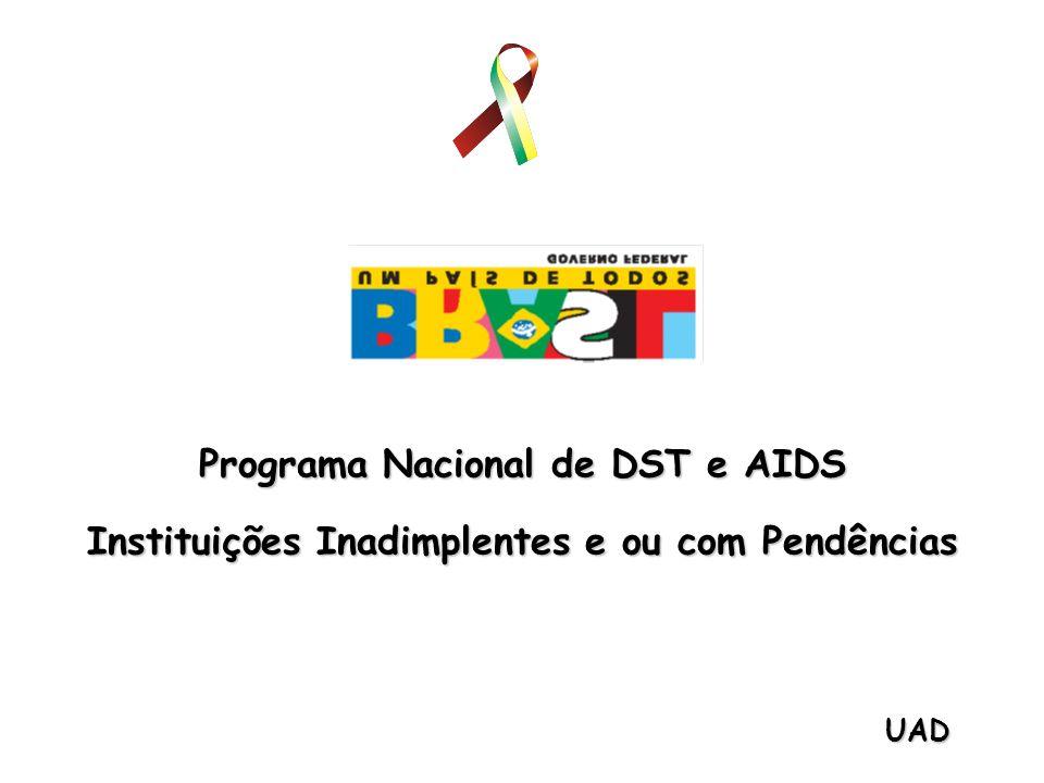 Programa Nacional de DST e AIDS Instituições Inadimplentes e ou com Pendências