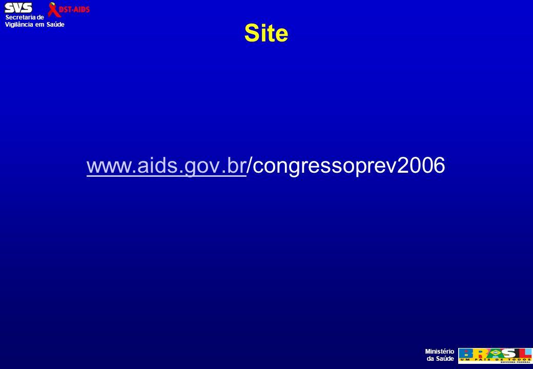 Site www.aids.gov.br/congressoprev2006