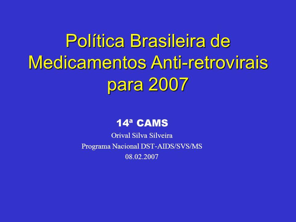 Política Brasileira de Medicamentos Anti-retrovirais para 2007
