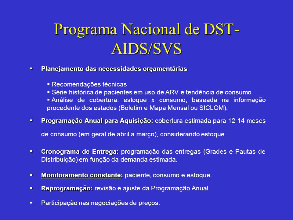 Programa Nacional de DST-AIDS/SVS