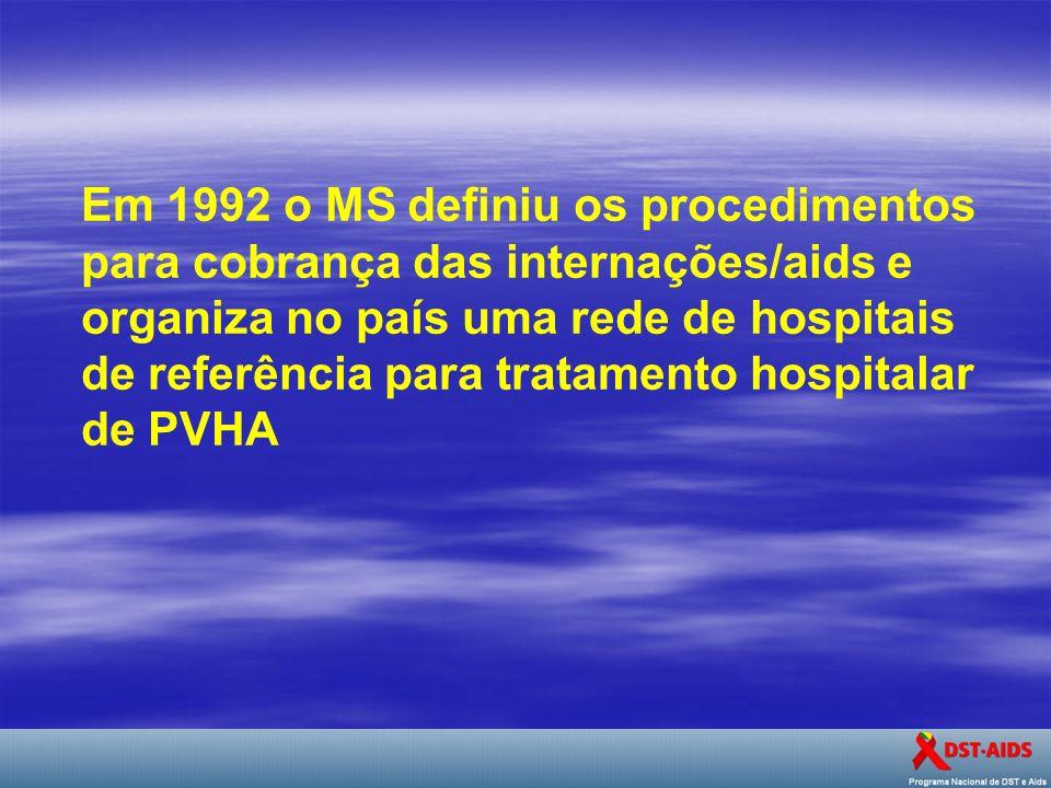 Em 1992 o MS definiu os procedimentos