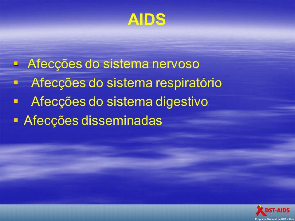 AIDS Afecções do sistema nervoso Afecções do sistema respiratório