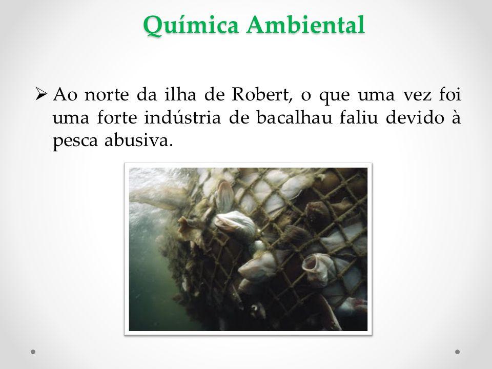 Química Ambiental Ao norte da ilha de Robert, o que uma vez foi uma forte indústria de bacalhau faliu devido à pesca abusiva.