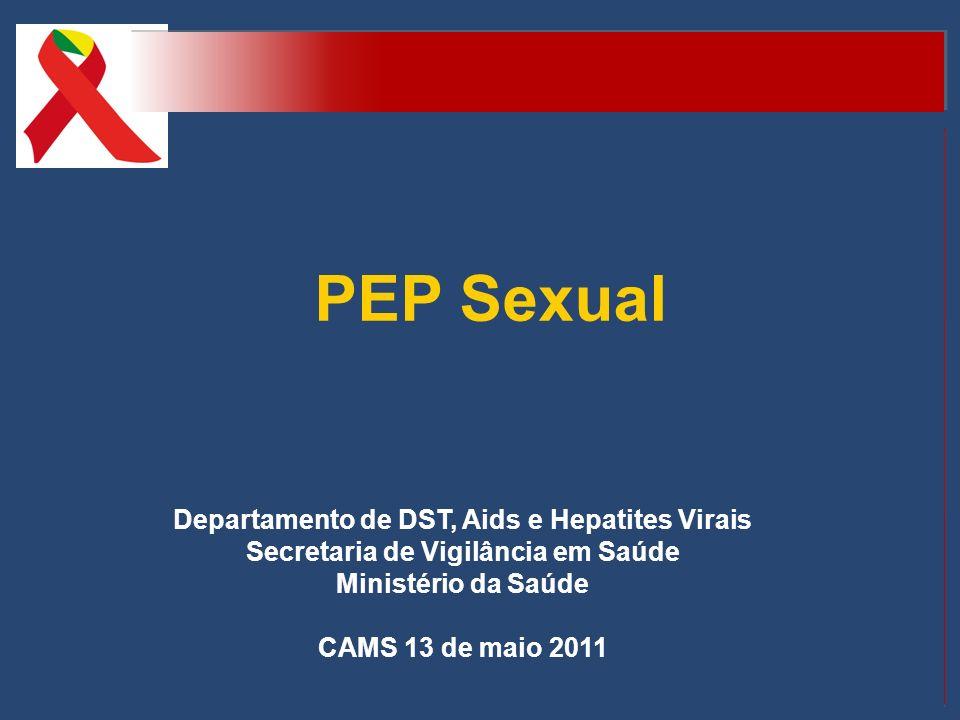 PEP Sexual Departamento de DST, Aids e Hepatites Virais