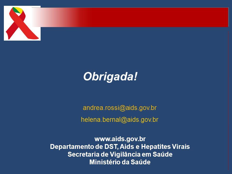 Obrigada! andrea.rossi@aids.gov.br helena.bernal@aids.gov.br