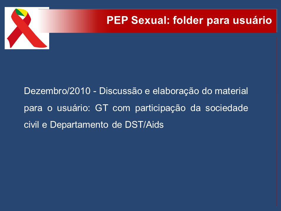 PEP Sexual: folder para usuário