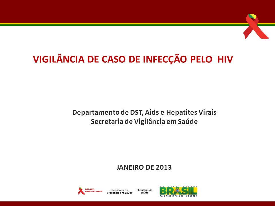 VIGILÂNCIA DE CASO DE INFECÇÃO PELO HIV