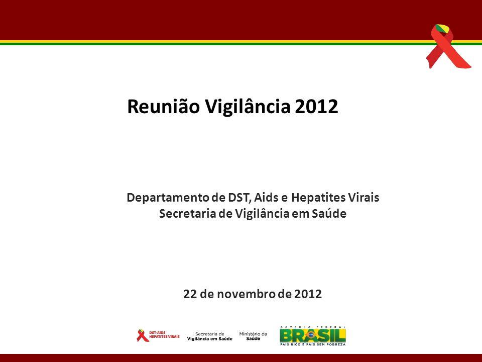 Reunião Vigilância 2012 Departamento de DST, Aids e Hepatites Virais