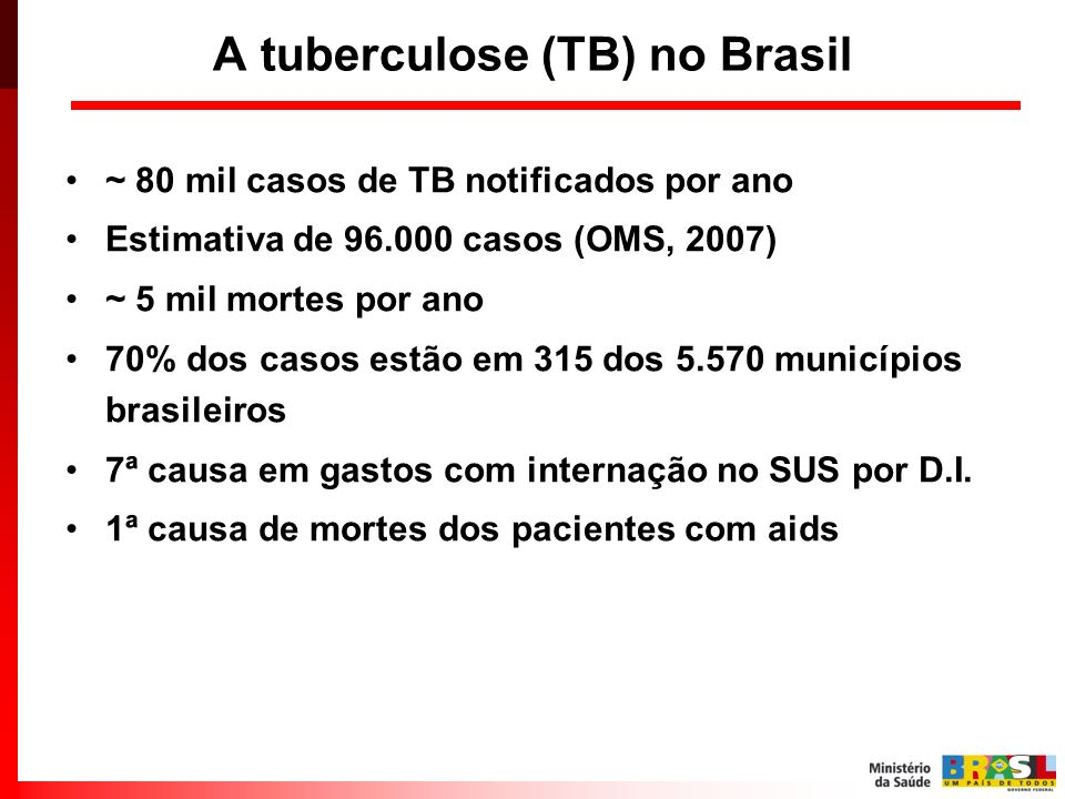 A tuberculose (TB) no Brasil