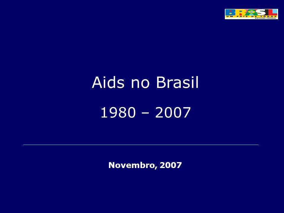 Aids no Brasil 1980 – 2007 Novembro, 2007