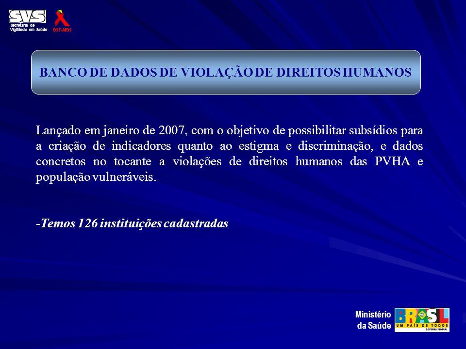 BANCO DE DADOS DE VIOLAÇÃO DE DIREITOS HUMANOS