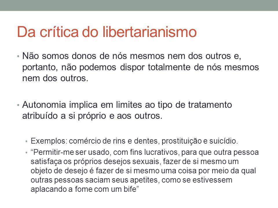 Da crítica do libertarianismo