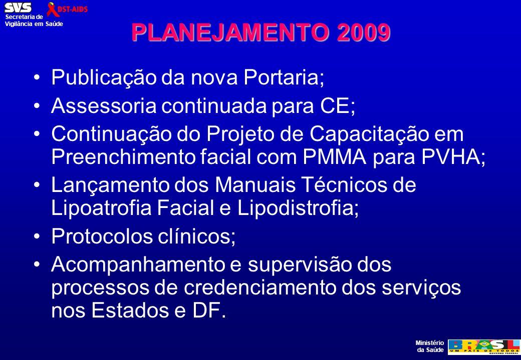 PLANEJAMENTO 2009 Publicação da nova Portaria;
