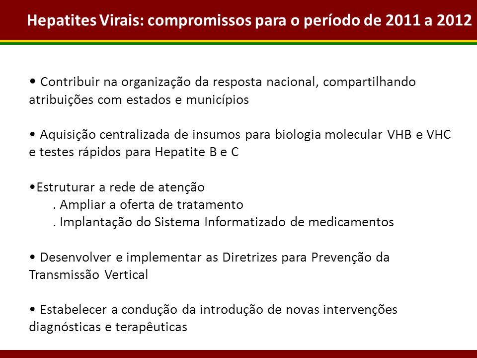 Hepatites Virais: compromissos para o período de 2011 a 2012