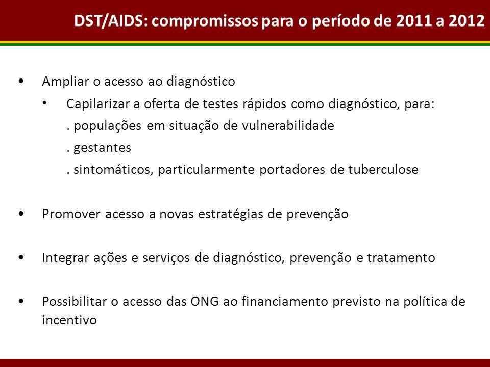 DST/AIDS: compromissos para o período de 2011 a 2012