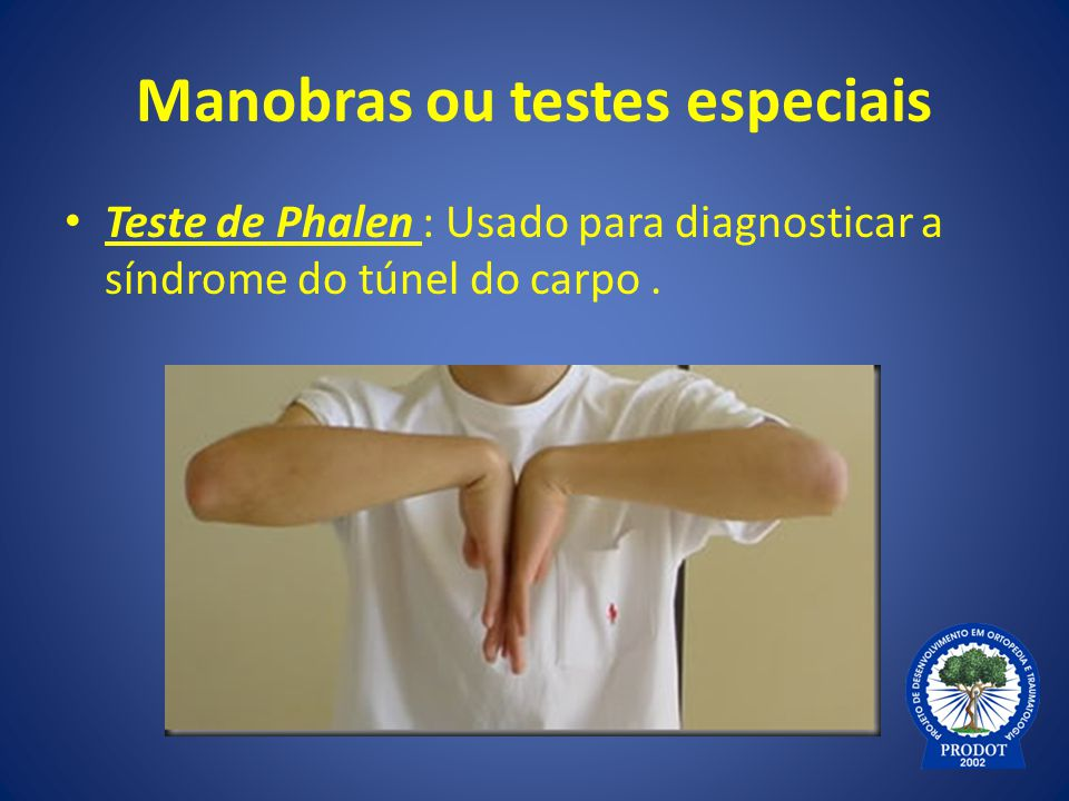 Manobras ou testes especiais