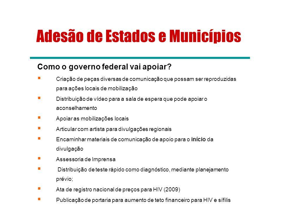 Adesão de Estados e Municípios