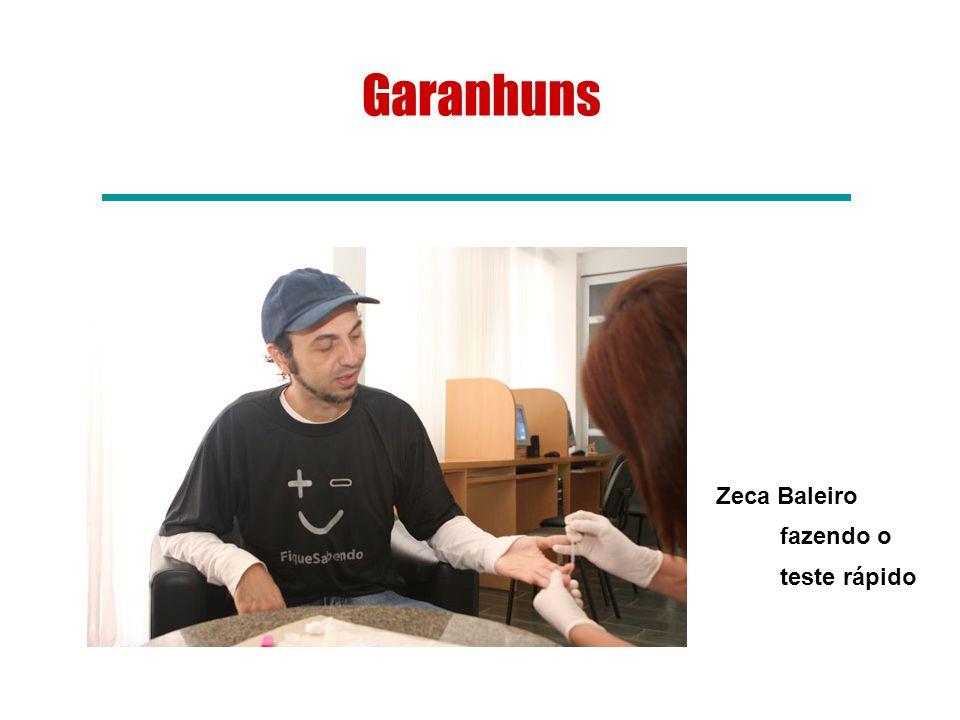 Garanhuns Zeca Baleiro fazendo o teste rápido