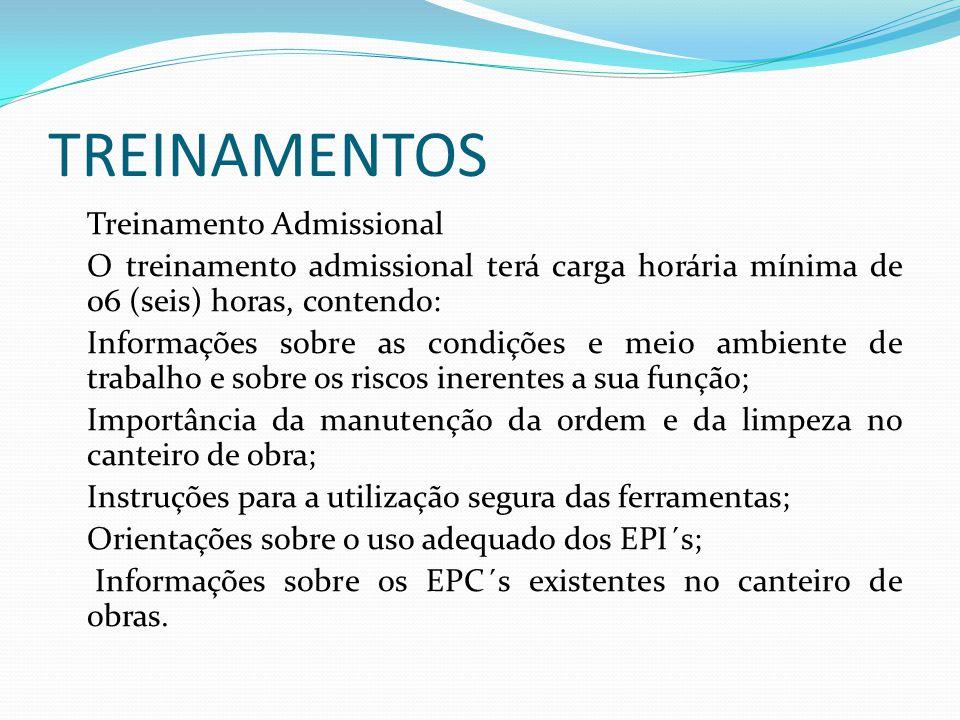 TREINAMENTOS Treinamento Admissional