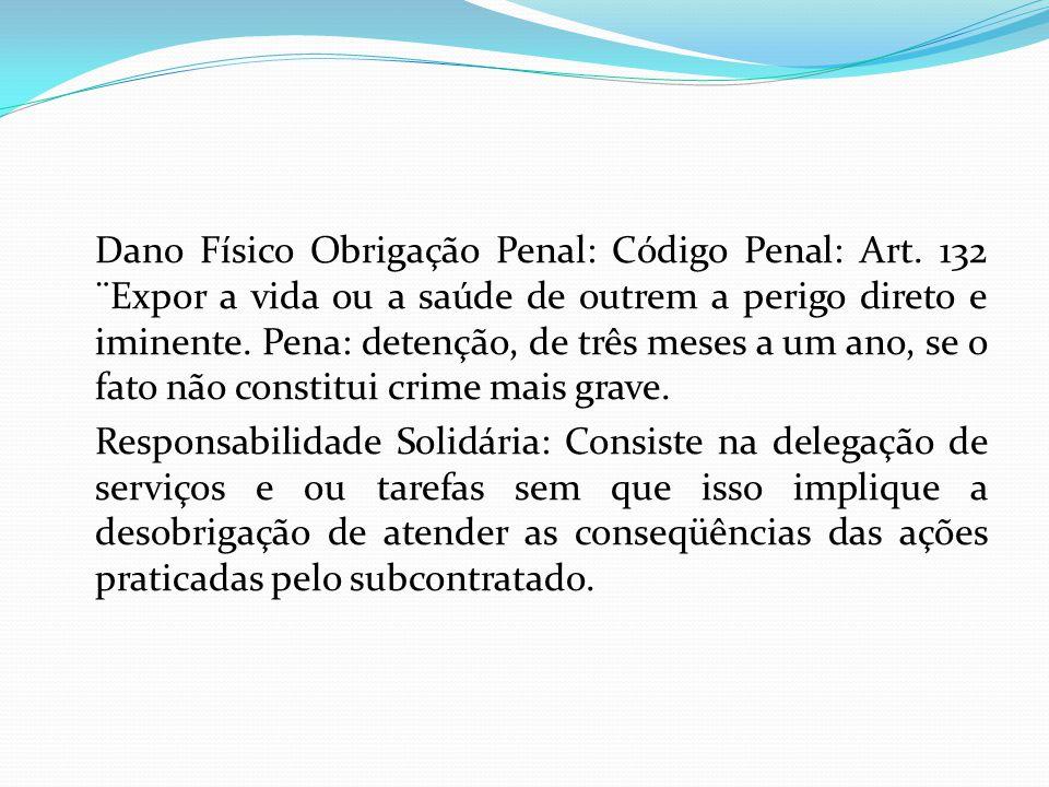 Dano Físico Obrigação Penal: Código Penal: Art